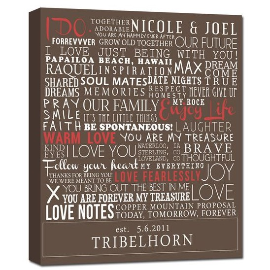 typography elite series word art canvas art personalized words and