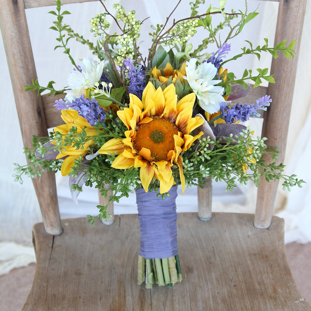 Sunflower Bouquets - Wedding Photo Albums By Southern Girl Weddings